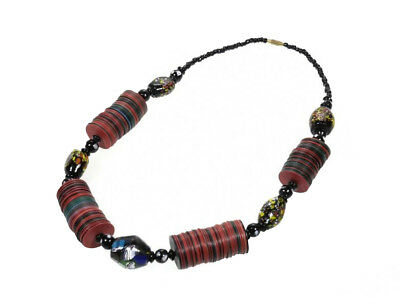Collier African Pearl Traditional Heishi - Heishi Beads - Ethnic Sautoir