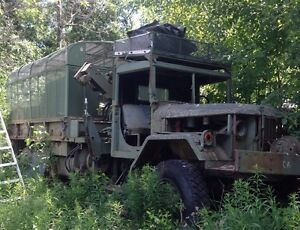 Army military 6x6 with drill attach winch