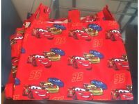 Disney Lightning McQueen lined tab top curtains, like new!