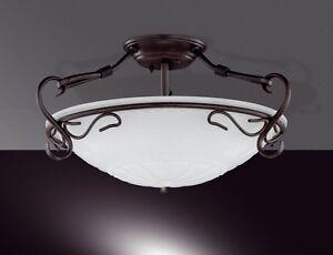Plafonnier style campagne luminaire de salon lustre lampe suspension blanc 4113 - Plafonnier style campagne ...