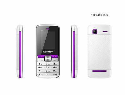 Einfacher und Billiger Handy ADMET i50 Dual Sim Weiß-Lila, Ohne Vertrag- NEU ()