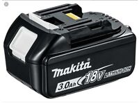 MAKITA 18V LITHIUM-ION BATTERY NEARLY LIKE NEW FOR SALE , FULLY HOLD CHARGED, USED ONCE