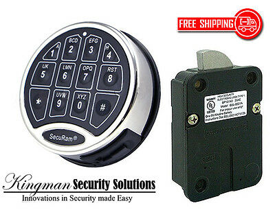 Securam Safelogic Basic Ii Lock Keypad Kit - Swingbolt - Chrome Finish