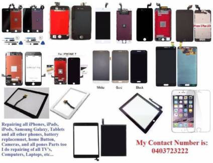 iPhone, iPad, Samsung, Tablets, LCD, TV, repair STARTS from $50,