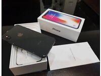 iPhone X 64gb black unlocked with apple warranty
