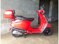 Vespa S125 2010 model with extras!