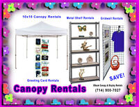 $60 Artist Canopy Tents For Rent & Gridwall - Orange County CA