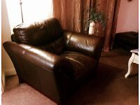 Oversized Leather Armchair Excellent Condition