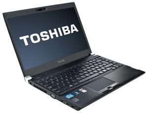 """13"""" Portable Toshiba Portege R930 Core i7-3520m Win10 Pro Laptop"""