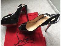 Christian Louboutin sling back high heels size 39 (U.K. 6) worn twice