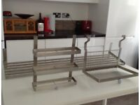 IKEA stainless steel GRUNDTAL kitchen items PLATE RACK. SPICES RACK.