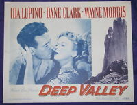ORIGINAL FILM NOIR DEEP VALLEY 1947 LC IDA LUPINO