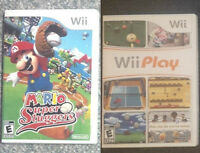 Mario Super Sluggers & Wii Play & 2 Wii Stands