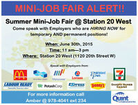 JOB FAIR T June 30th: Labourer, Food Server positions & more