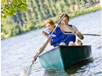 Canadian venture canoe green