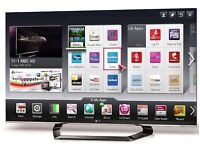 """55"""" LG 3D full HD LED smart WiFi built in 3D glasses HDMI cable"""