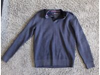 Tommy Hilfiger Button Mock Neck Sweater