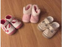 3 pairs of mothercare crawlers only one pair worn