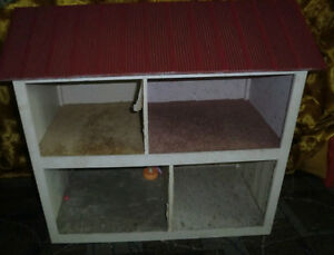 LARGE HAND MADE HAND CRAFTED WOOD WOODEN DOLL HOUSE