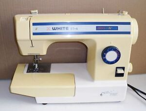 White sewing machine ET-6, multifunction, clean  perfect working