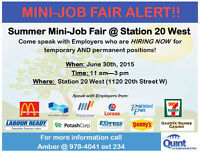 MINI JOB FAIR - TOMORROW!!!!!