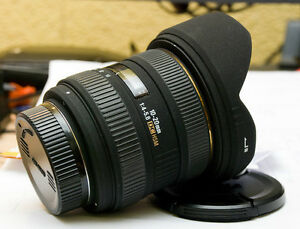sigma EX 10 20 DC HSM ultra wide angle lens for nikon