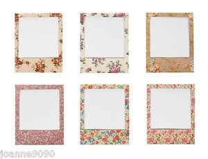 sass belle magnetic floral polaroid photo picture frame fridge retro home gift ebay. Black Bedroom Furniture Sets. Home Design Ideas