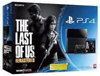 PS4, 2x controller, PS live gold, last of us, cod MWII