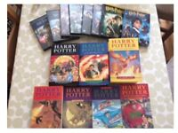 Full set of Harry Potter books and DVD's