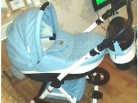 Limited eeition baby blue vib serenity pram