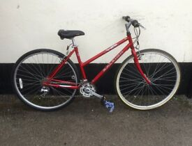 "LADIES RALEIGH HYBRID BIKE 18"" FRAME £65"