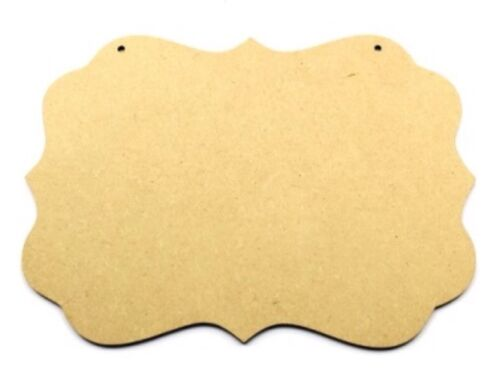 30cm x 10cm MDF Wooden Plaque Sign Blank Craft Shapes with hanging Cupcakes