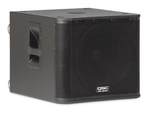 QSC kw181 powered subwoofers