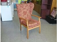 20% OFF ALL ITEMS SALE - Wingback Armchair / Fireside Chair - For Reupholstery - Can Deliver For £19