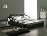 Black/White,King/Queen Italian leather Beds on SALE from $668.30