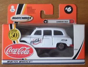 REDUCED - Coca-Cola Matchbox London Taxi - 2001