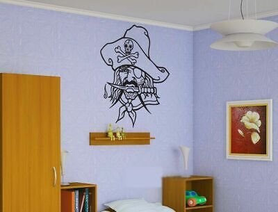 Cheap Wall Vinyl Sticker Decals Room Decor Pirate Skeleton Hat Knife  #138](Cheap Plastic Skeletons)