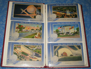 54 Postcards Art Deco 1939 - 1940 New York World's Fair Album