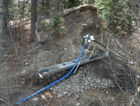 Placer gold claim behind Peachland