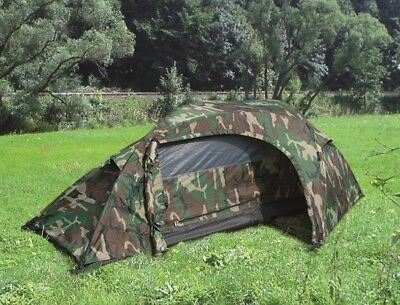 Army RECON WCP US woodland camouflage military one person tent Einmannzelt Zelt