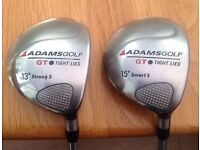 Pair of matching Adams Tight Lies GT hybrid/rescue clubs £20