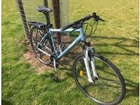 Front suspension hybrid bike