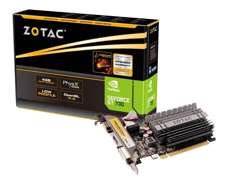 ZOTAC GeForce® GT 730 4GB Zone Edition Low Profile Graphics Card