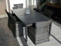 Outdoor Patio Dining Set, wicker furniture, outdoor table