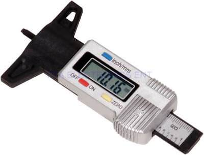 0-25.4mm Metricinch Digital Lcd Tire Tyre Wheel Tread Depth Brake Gauge Measure