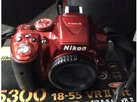 Boxed Nikon D5300 Digital SLR and accessories