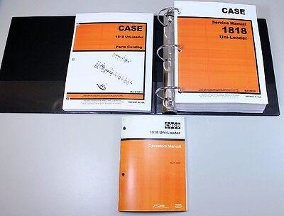 Case 1818 Uni-loader Skid Steer Service Parts Operators Manual Owners Repair