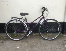 "LADIES RALEIGH TOWN BIKE 18"" FRAME £55"