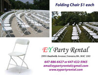 Chairs,Tables,Tents, Pop Corn & Cotton Candy Machine