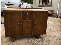 Side board cabinet. Retro, up-cycle, shabby chic project